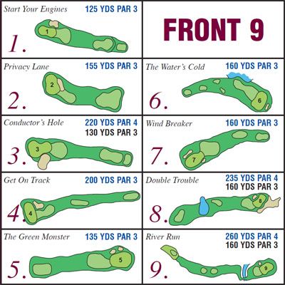 Course Layout Harmony Creek Golf Centre